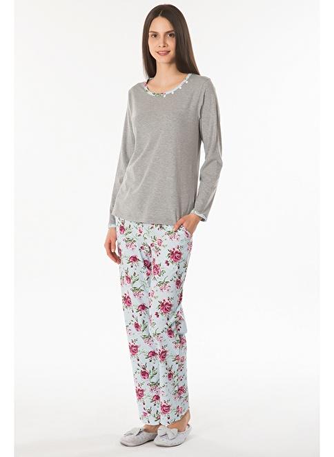 Kom Cındy Pijama Gri
